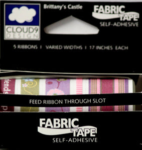 Cloud 9 Design Brittany's Castle Self-Adhesive Fabric Tape Collection - SCRAPBOOKFARE