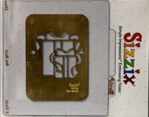 Sizzix Gifts Simple Impressions Brass Stencil & Embossing Folder