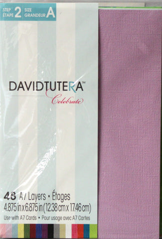 David Tutera Celebrate 48 A7 Card Layers - SCRAPBOOKFARE