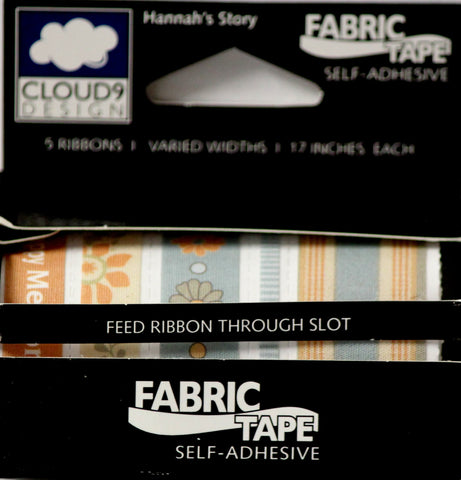Cloud 9 Design Hannah's Story Self-Adhesive Fabric Tape Collection - SCRAPBOOKFARE