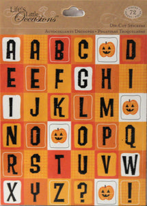 K & Company Life's Little Occasions Halloween Alphabet Die-cut Stickers