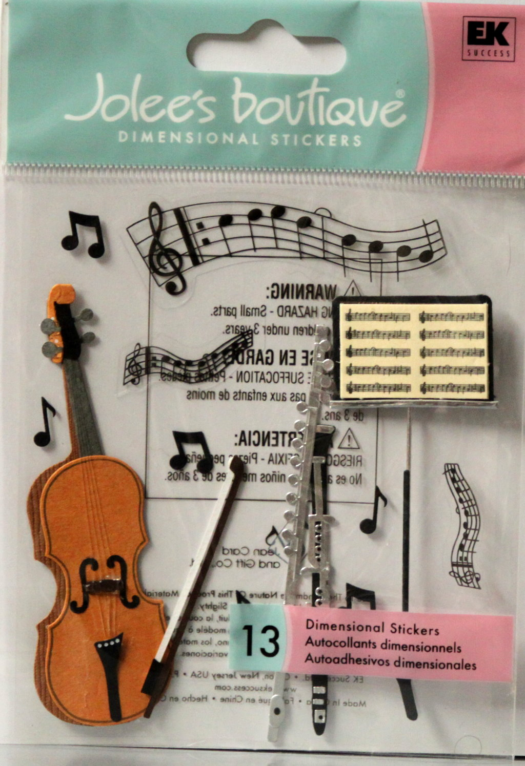 Jolee's Boutique Musical Trio Dimensional Stickers