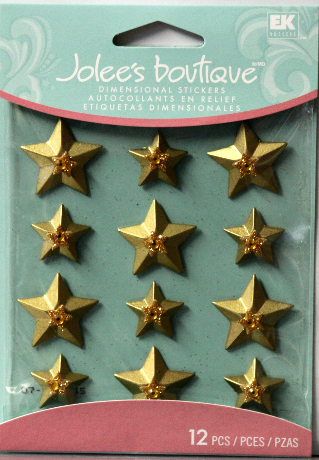 Jolee's Boutique Gold Stars Cabochons Dimensional Scrapbook Stickers