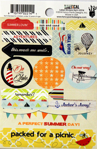 Fancy Pants Designs Nautical Label Stickers - SCRAPBOOKFARE