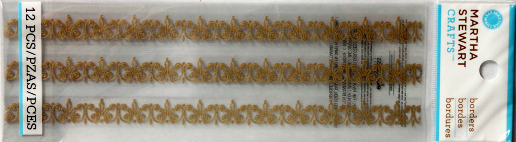 Martha Stewart Crafts Gold Wedding Cake Border Stickers - SCRAPBOOKFARE