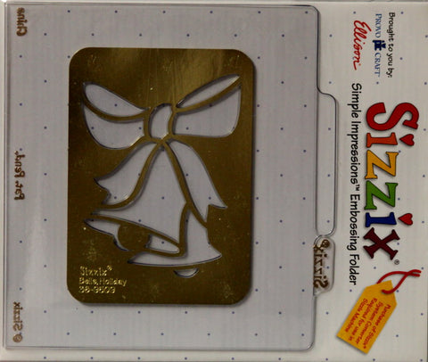 Sizzix Bells Holiday Simple Impressions Brass Stencil & Embossing Folder