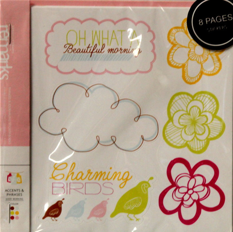 American Crafts Remarks Good Morning Accents & Phrases Journaling Stickers Book