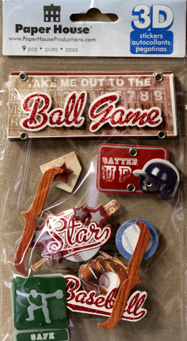 Paper House 3D Dimensional Baseball Stickers