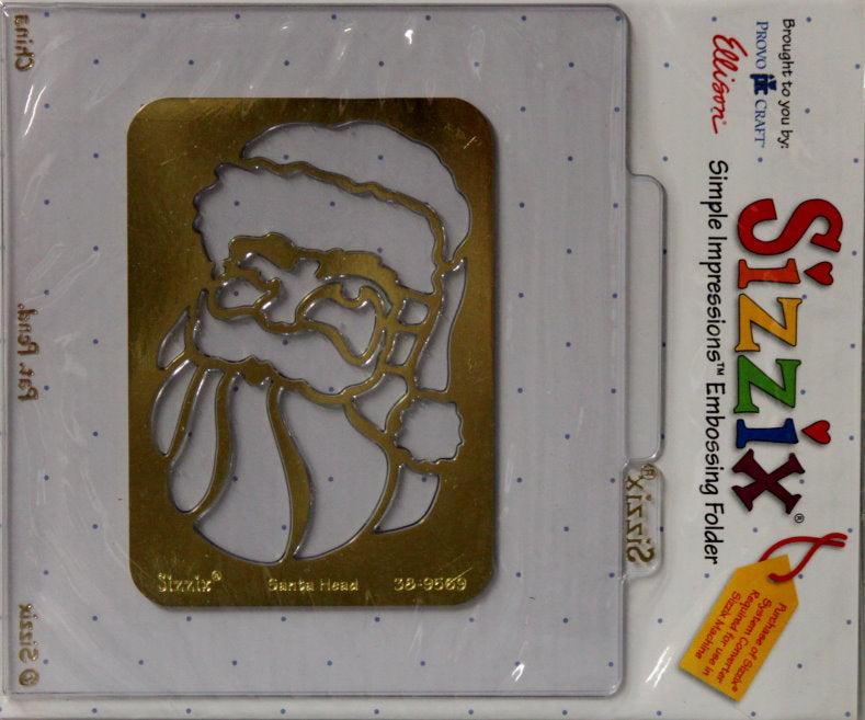 Sizzix Santa Head Simple Impressions Brass Stencil & Embossing Folder