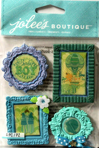 Jolee's Boutique Baby Boy Mini Frames Dimensional Resin Stickers
