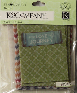 K & Company Tim Coffey Travel Mini Printed Bags Embellishments