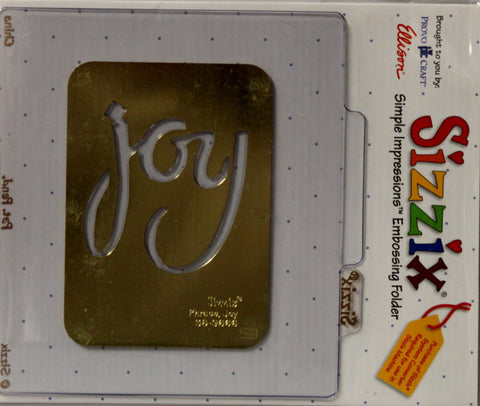 Sizzix Joy Simple Impressions Brass Stencil & Embossing Folder