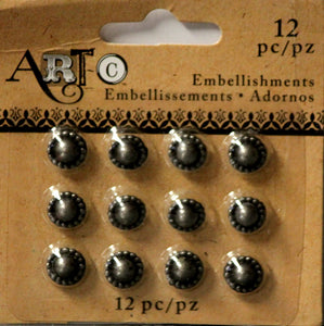 Art C Pewter Metal Art Embellishments