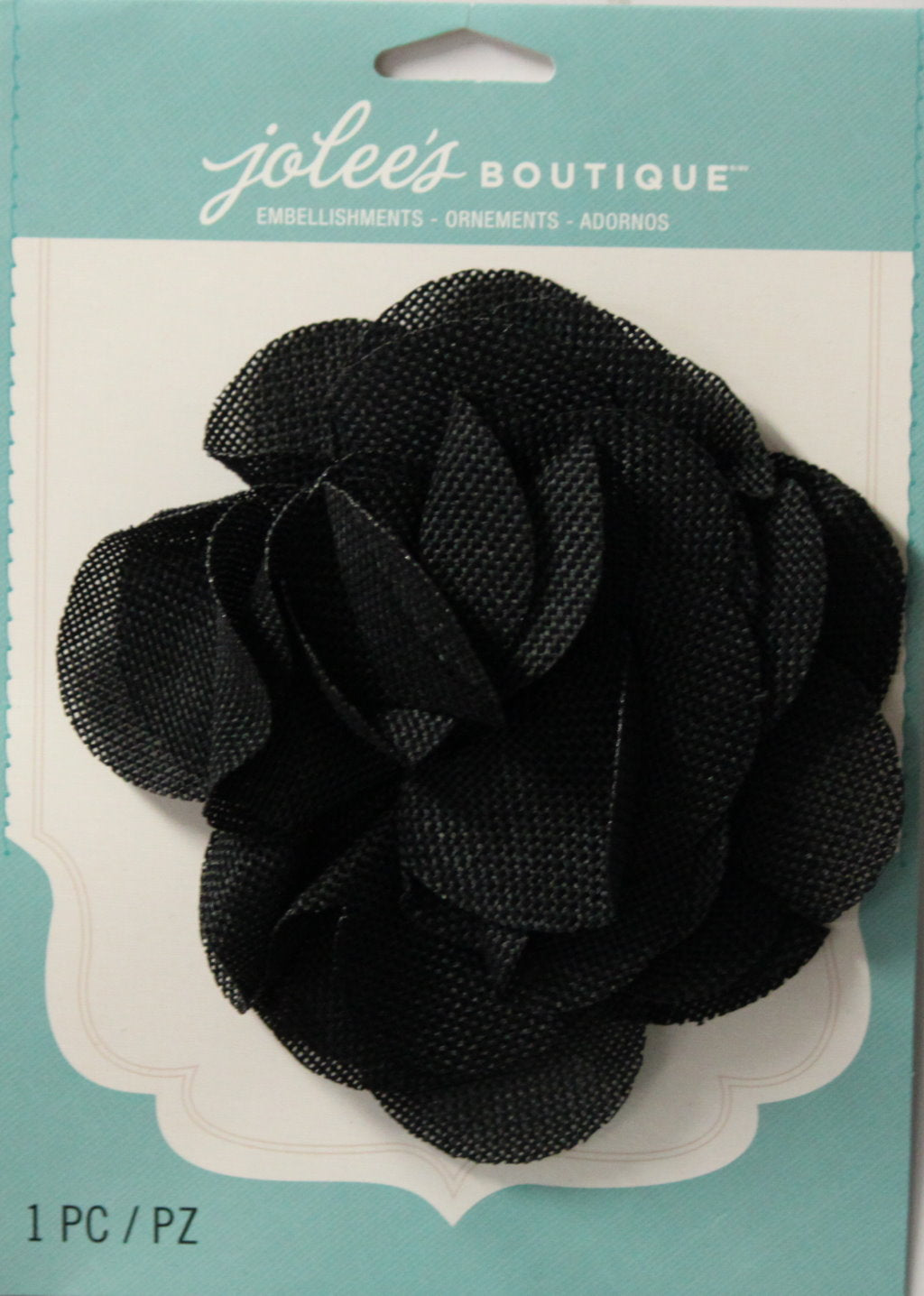 Jolee's Boutique Black Burlap Large Flower Embellishment Sticker
