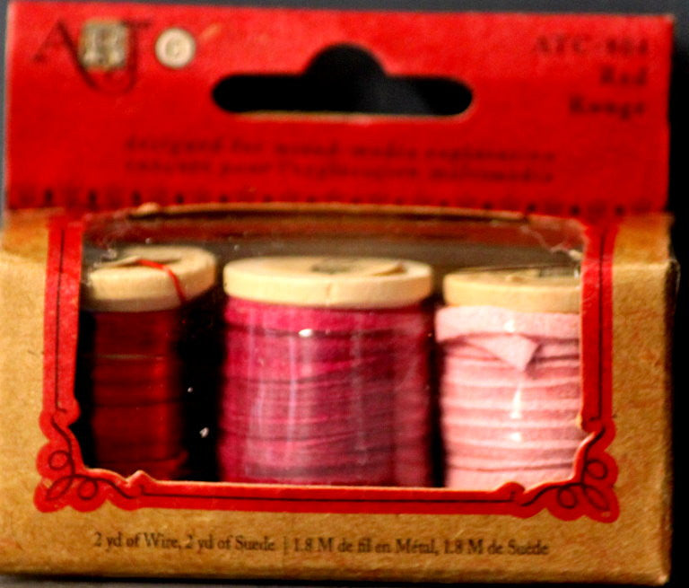 Art C Mixed Media Red Rouge Wire & Suede Combo - SCRAPBOOKFARE