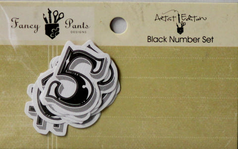 Fancy Pants Designs Artist Edition Black Number Set Embellishments - SCRAPBOOKFARE