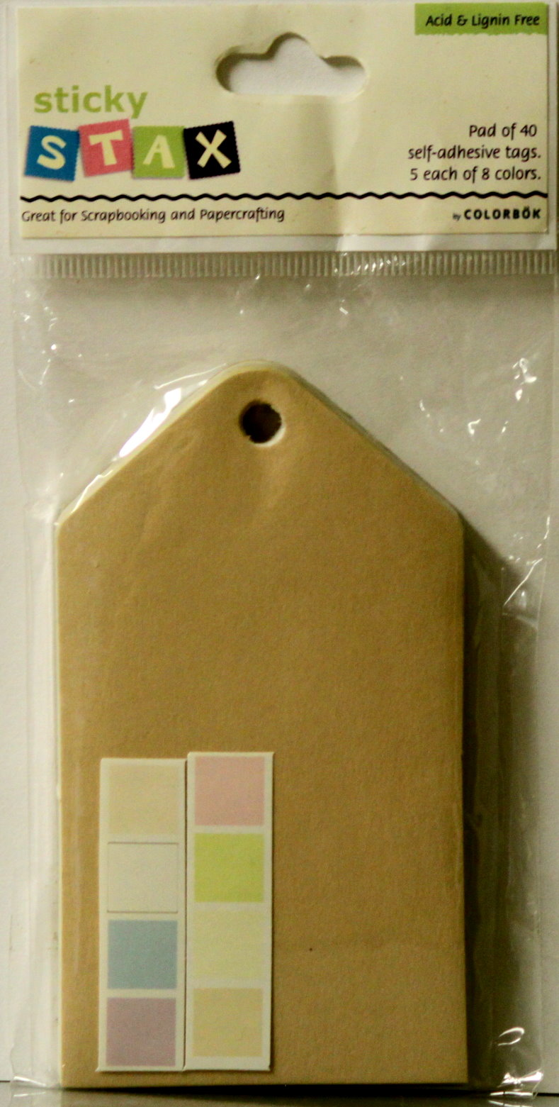 Colorbok Sticky Stax Pastel Self-Adhesive Tags Embellishments