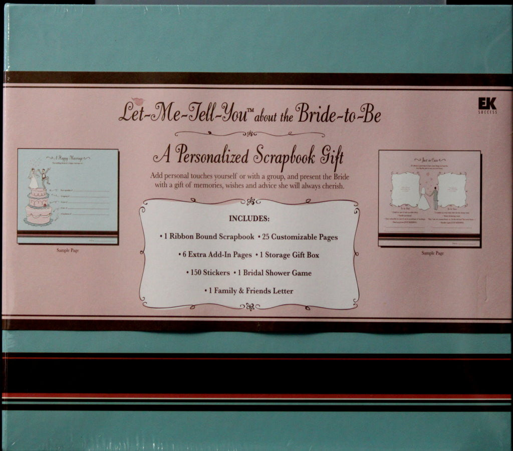 EK Success Let Me Tell You About the Bride To Be Scrapbook Kit - SCRAPBOOKFARE