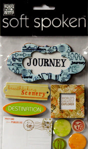 Me & My Big Ideas Soft Spoken Traveler-Journey Dimensional Stickers - SCRAPBOOKFARE