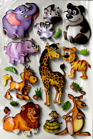 Zoo Animals Dimensional Chipboard Embellishments Stickers