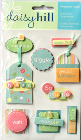 Daisy Hill Coochie Coo Baby Dimensional Stickers - SCRAPBOOKFARE