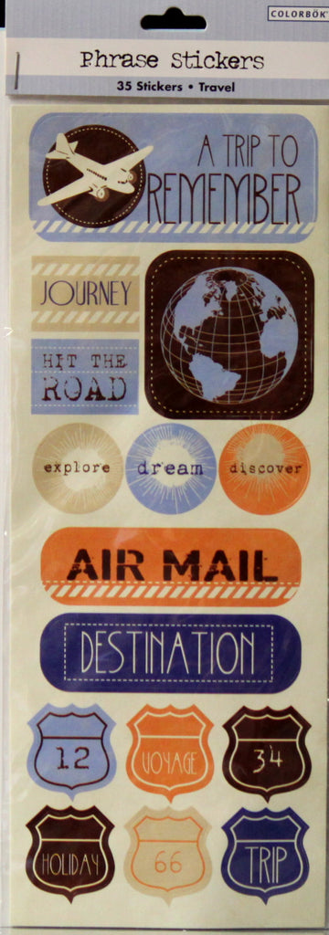 Colorbok Travel Phrase Stickers