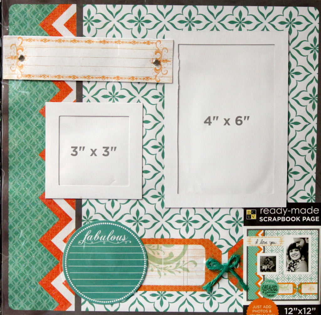 DCWV 12 x 12  Any Occasion Ready-Made Scrapbook Page - SCRAPBOOKFARE