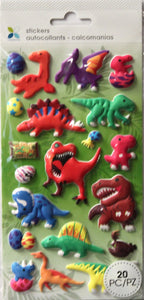 Momenta Foam Dimensional Dinosaurs & Elements Stickers