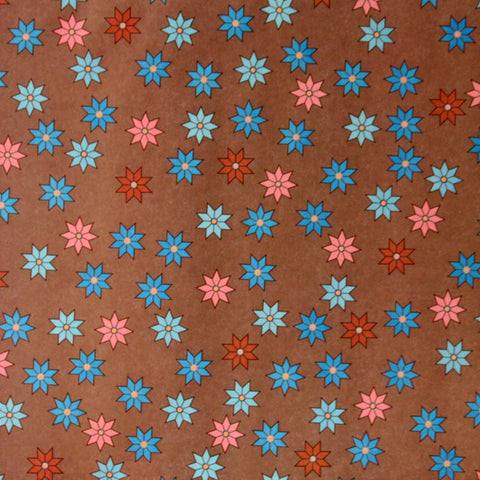 "Provo Craft 12"" x 12"" Hot Chocolate Flowers Coordinates Scrapbook Paper"