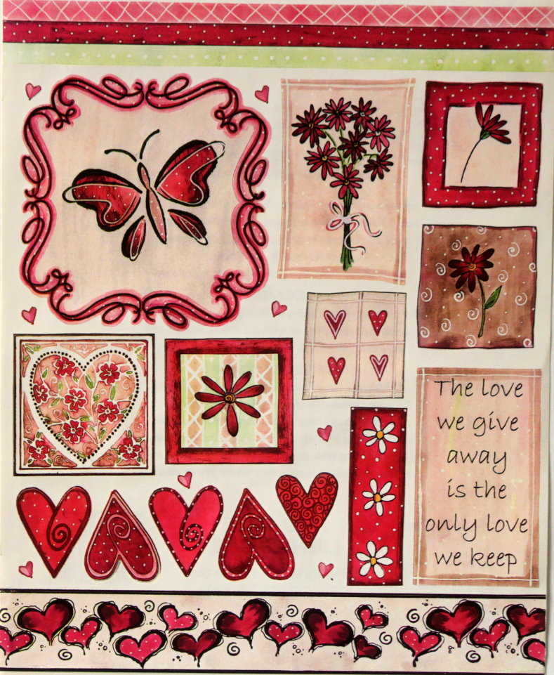 Penny Black Stickeroos Keeping Love Scrapbook Stickers