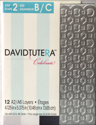 David Tutera Celebrate Die-Cut A2/A6 Card Layers - SCRAPBOOKFARE