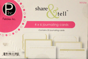 Pebbles Inc. Share & Tell White Journaling Cards Embellishments - SCRAPBOOKFARE