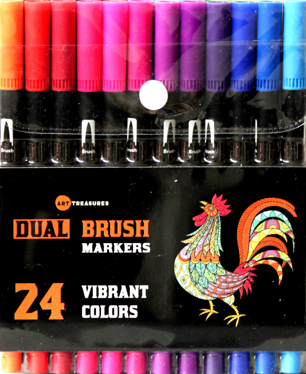 Art Treasures Vibrant Colors Dual Brush Markers