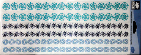 Cloud 9 Design Clear Sparkle Borders Stickers - SCRAPBOOKFARE