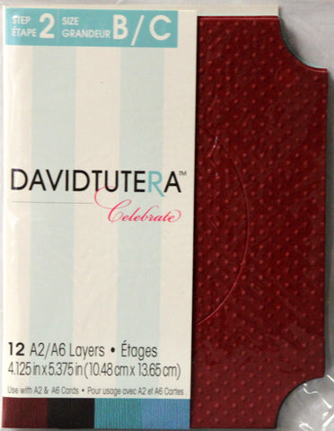 David Tutera Celebrate Die-Cut Frame A2/A6 Card Layers - SCRAPBOOKFARE