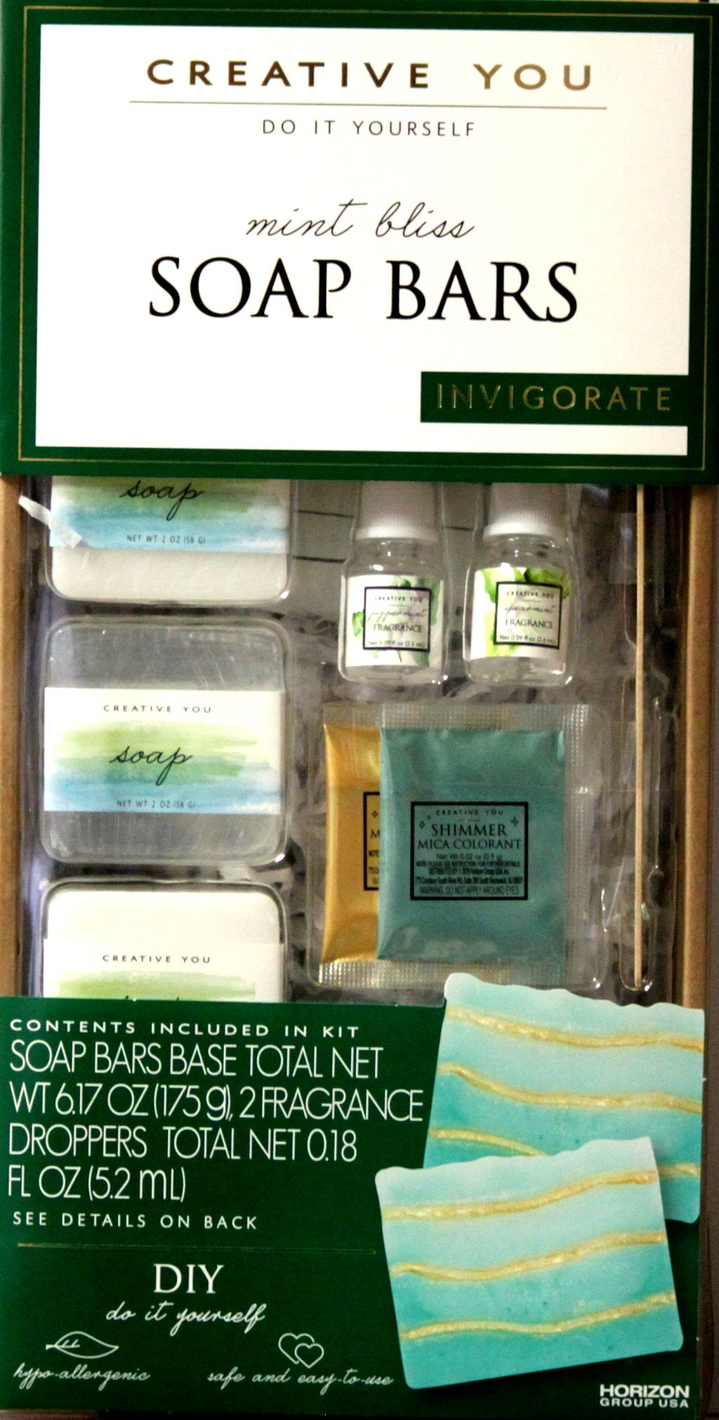 Creative You Do It Yourself Mint Bliss Soap Bars Kit