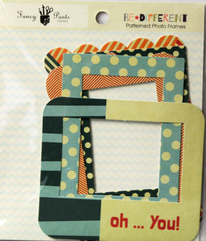Fancy Pants Designs Be Different Patterned Photo Frames Embellishments - SCRAPBOOKFARE