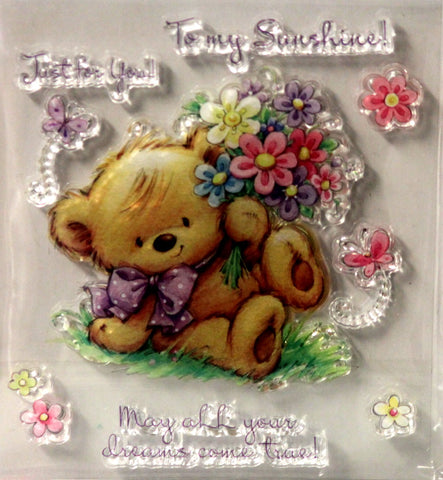 Teddy Just For You Clear Stamps Set