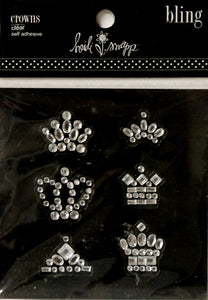 Heidi Swap Clear Crowns Bling Adhesive Gem Stickers