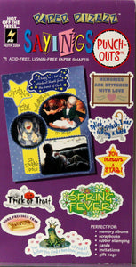 Paper Pizazz Sayings Punch-outs Die-cut Embellishments