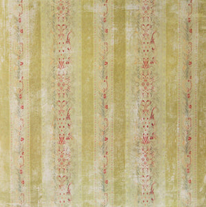 Distressed Green Wallpaper Printed 12 x 12 Scrapbook Paper