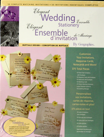 Elegant Wedding Stationery Ensemble - SCRAPBOOKFARE