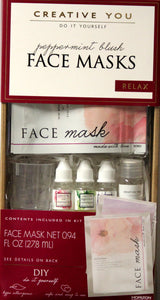 Creative You Do It Yourself Peppermint Blush Face Masks Kit