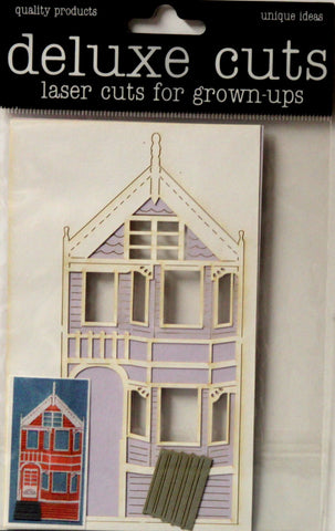 Deluxe Designs Deluxe Cuts Laser Cuts For Grown-ups Victorian House Die-Cut Embellishments