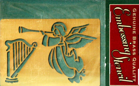 Darice Christmas Angel Brass Embossing Stencil