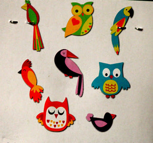 Lara's Crafts Owls And Birds Wood Embellishments