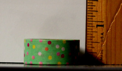 Recollections Washi Tape Green Party Dots