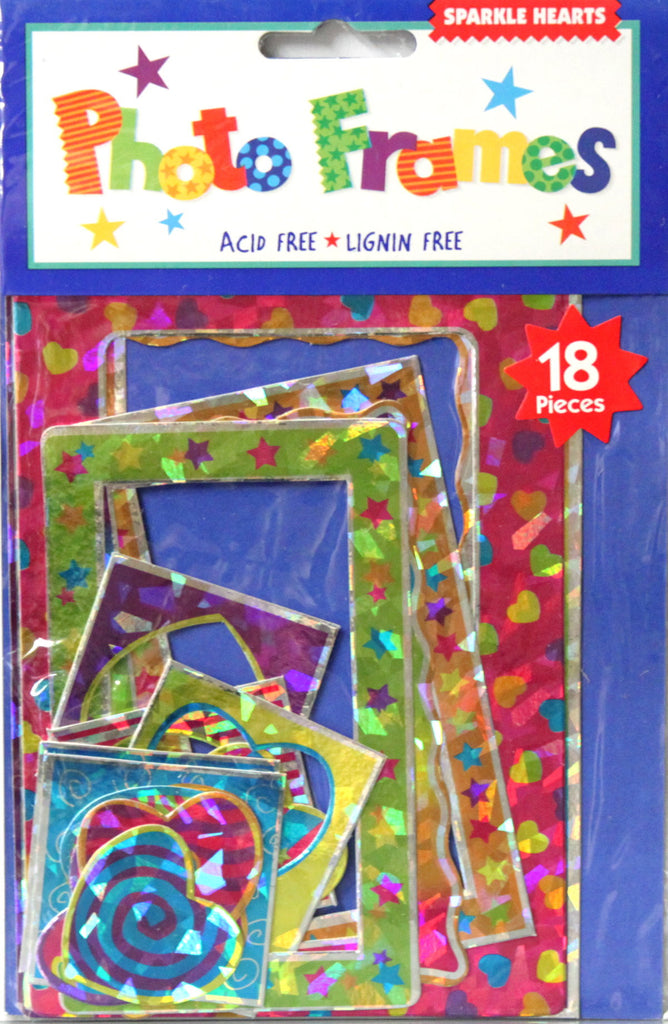 Amscan Inc. Sparkle Hearts Photo Frames Embellishments - SCRAPBOOKFARE