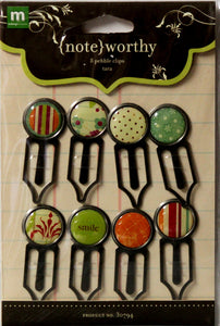 Making Memories Noteworthy Pebble Clips Metal Embellishments - SCRAPBOOKFARE