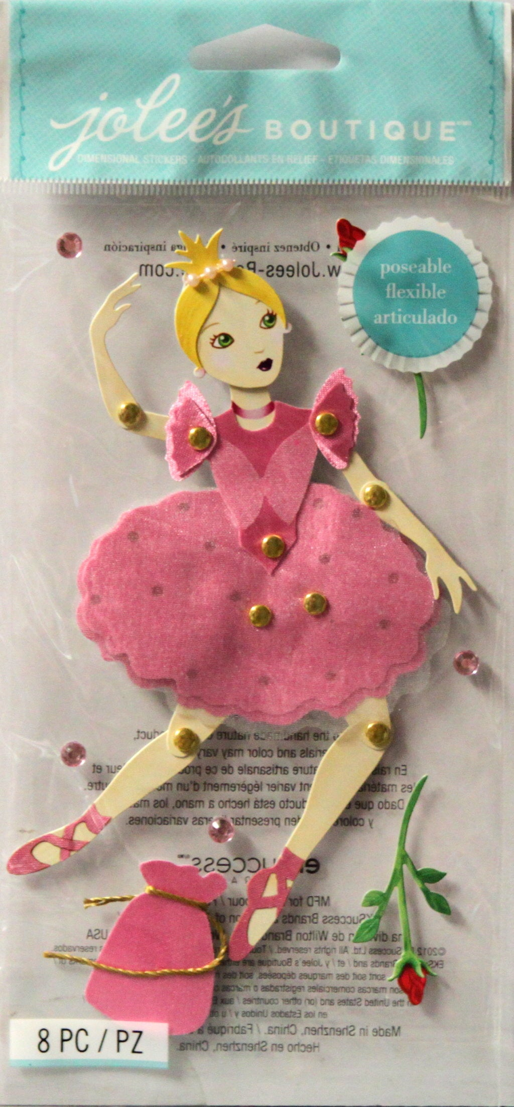 Jolee's Boutique Poseable Ballerina Dimensional Stickers